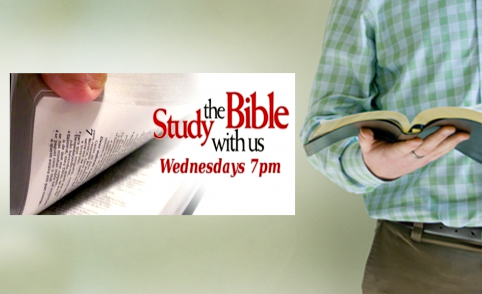 Come study the word with us on Wednesday evenings at 7!